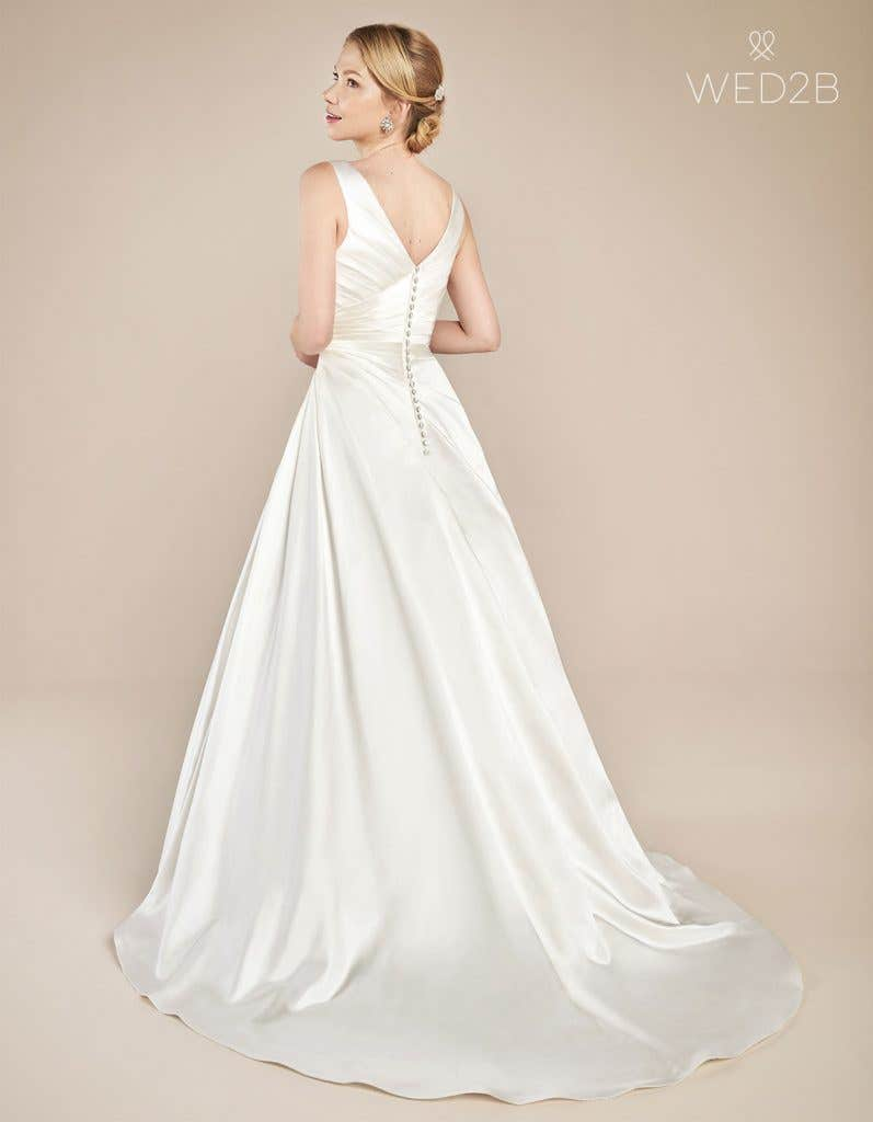 Back view of wedding dress with straps Emery