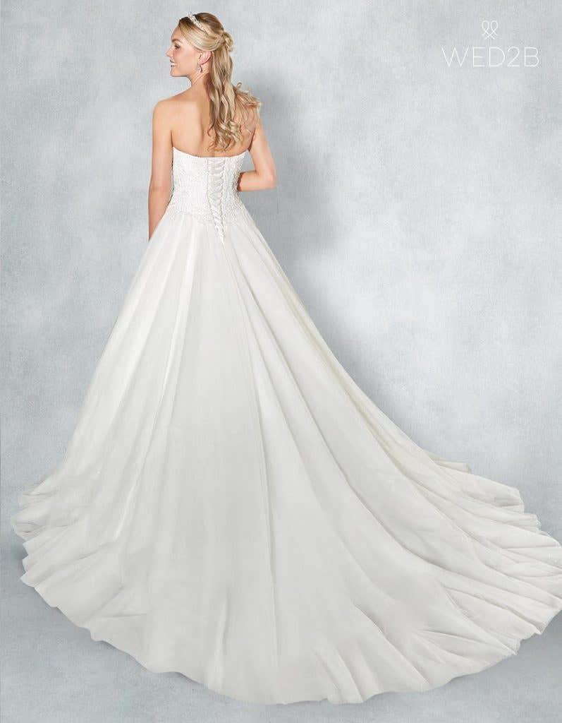 Back view of romantic wedding dress Eternity
