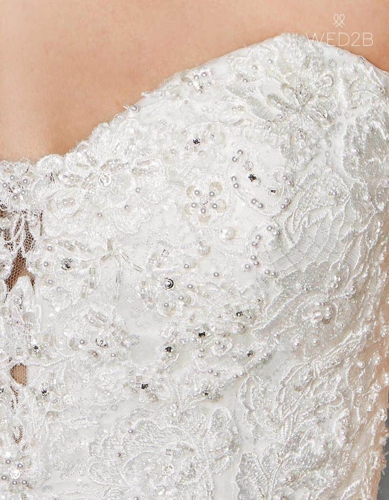 Detail view of romantic wedding dress Eternity