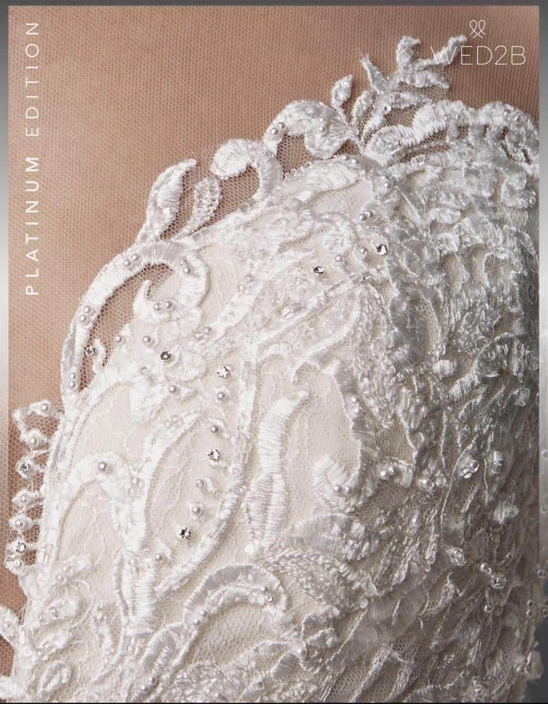 Detail view of beautiful wedding dress Jackson