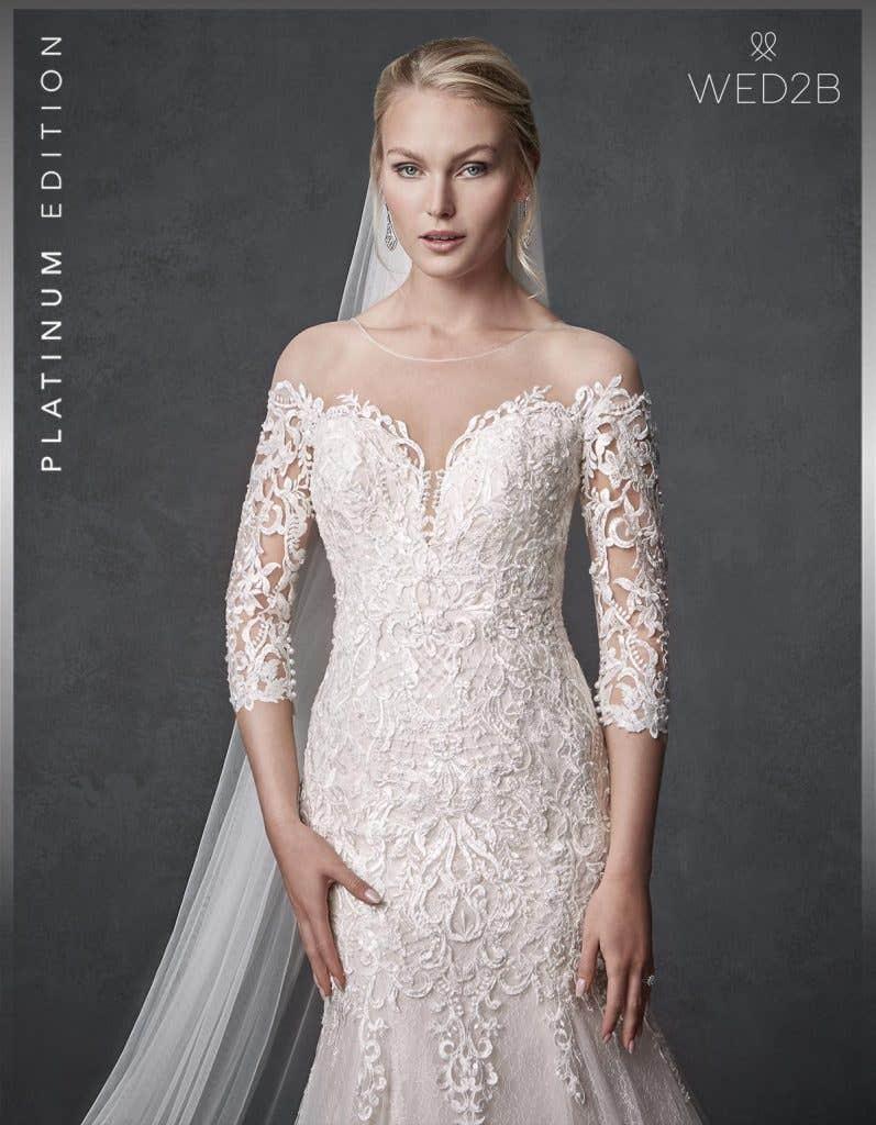 Front crop of beautiful wedding dress Jackson