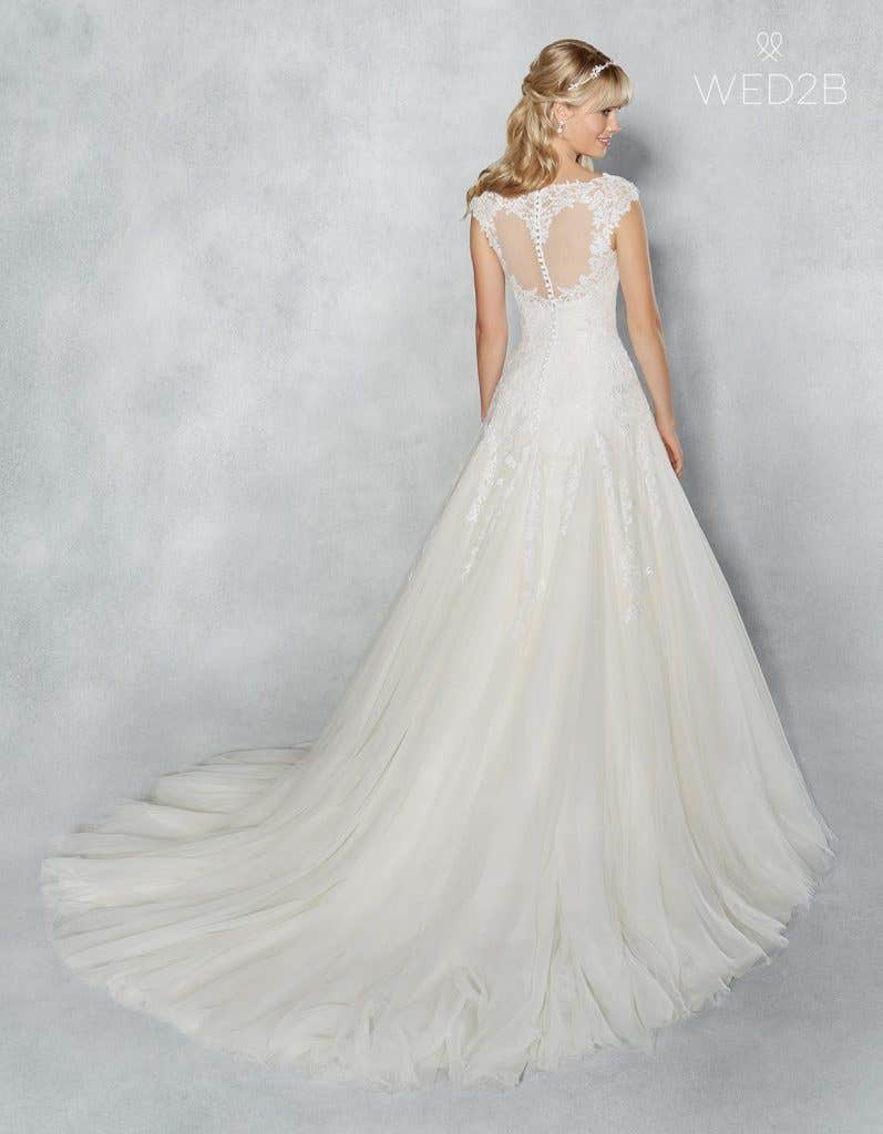 Back view of romantic wedding dress Jamie