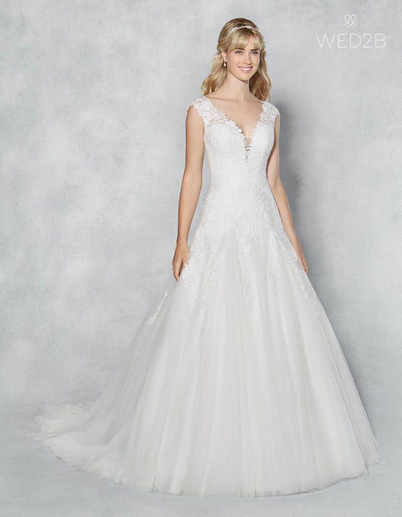 Front view of romantic wedding dress Jamie