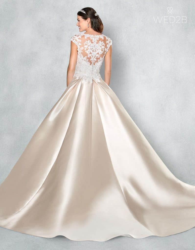 Back view of romantic wedding dress Lucia