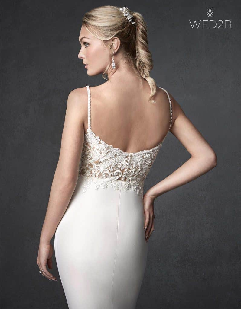 Back crop view of beautiful wedding dress Orlando