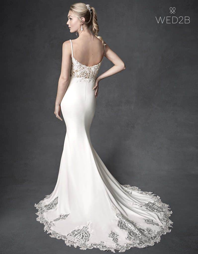 Back view of beautiful wedding dress Orlando