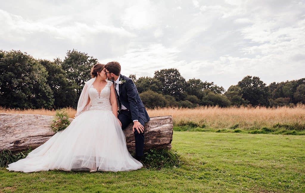 A fabulous countryside wedding photograph
