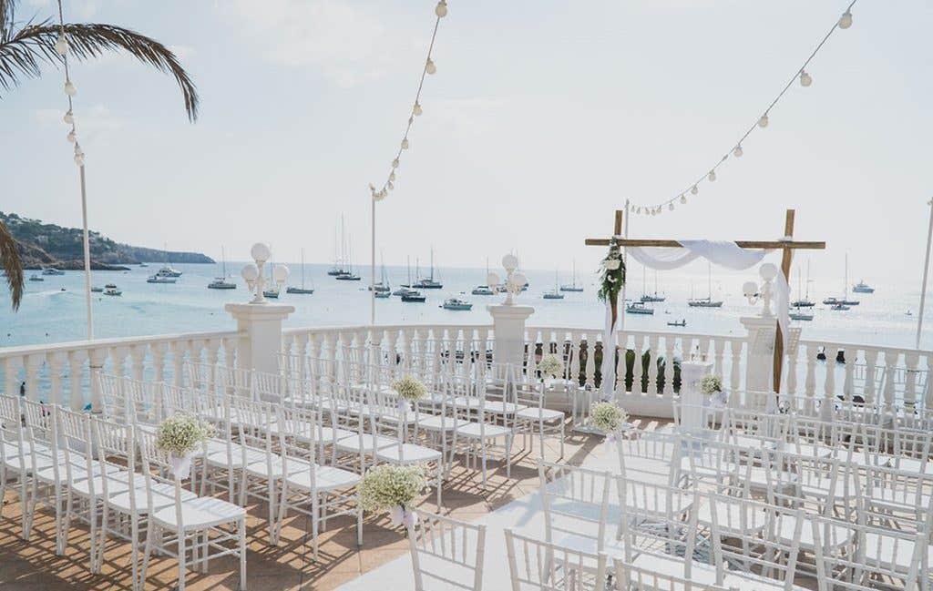 Incredible views at this couples Ibiza wedding