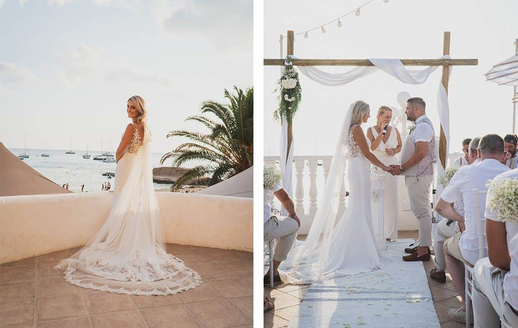 "Saying ""I do"" at their Ibiza wedding"