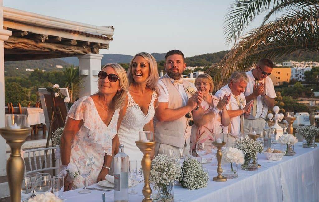 The head table at this Ibiza wedding