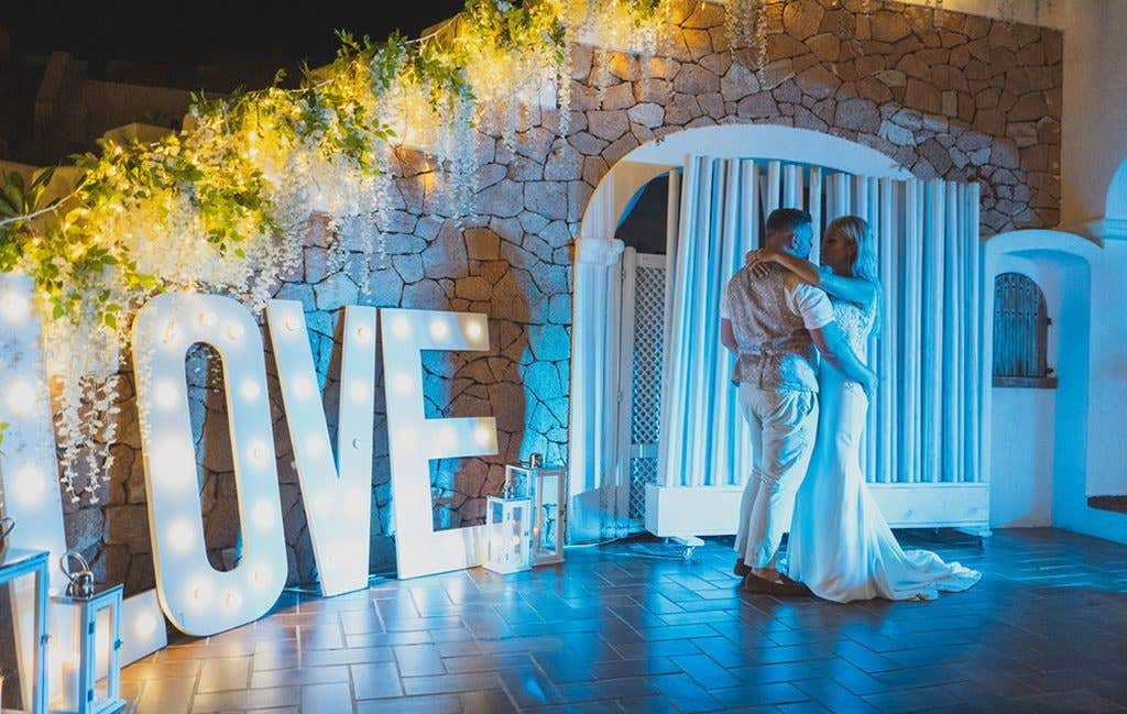 The first dance at this Ibiza wedding