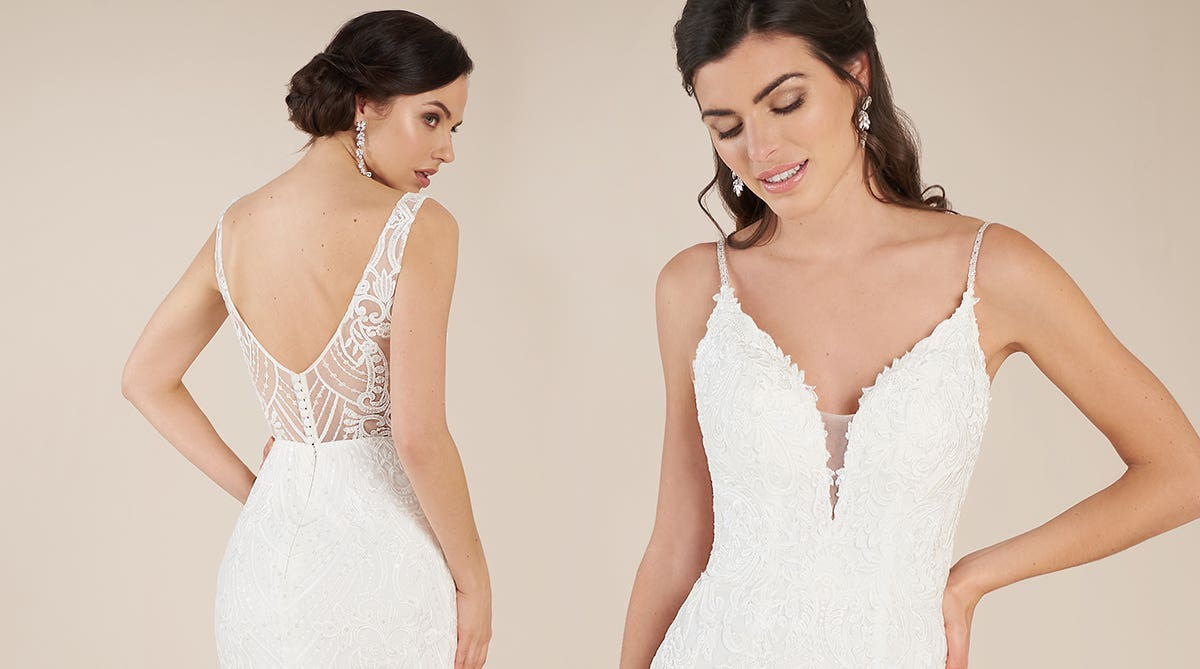 Stand out from the crowd in a statement wedding dress