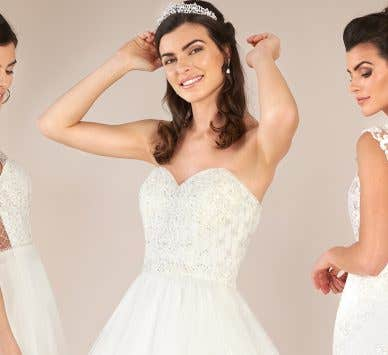 Stunning lace bridal gowns