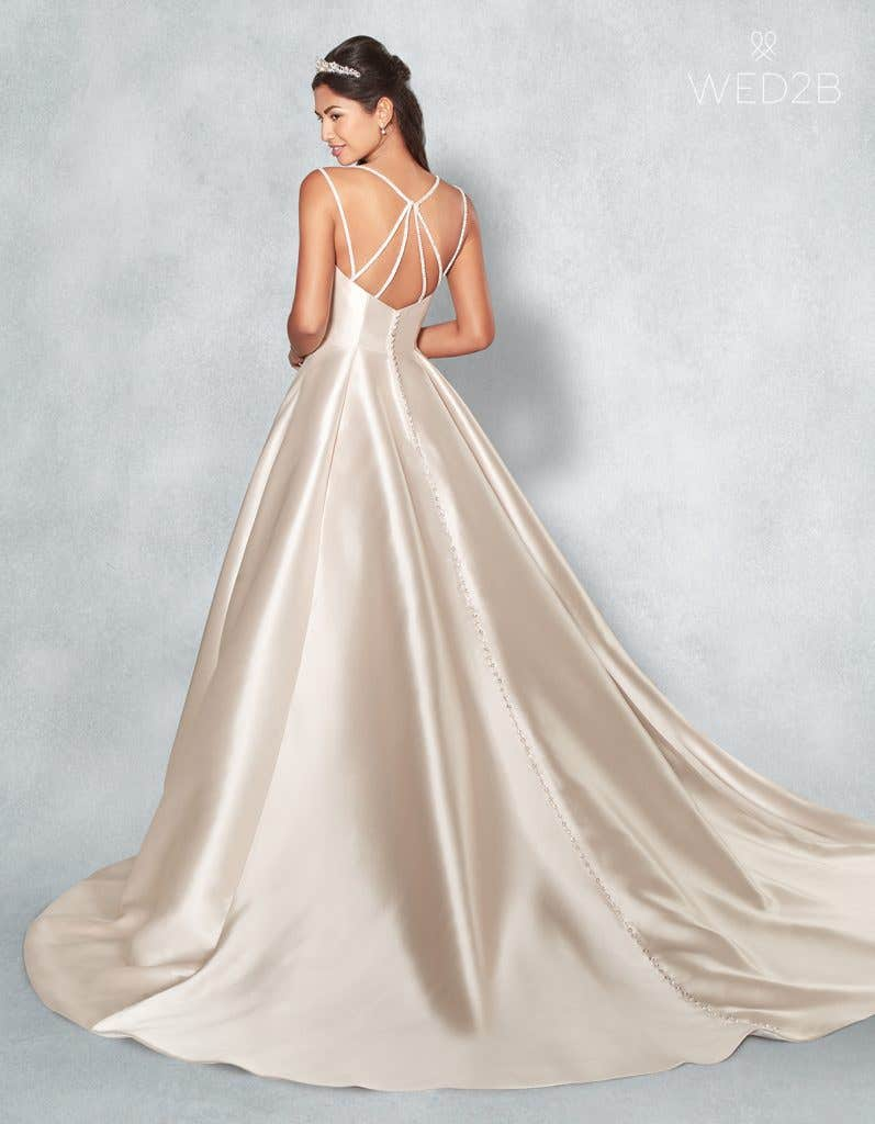 Back view of new wedding dress Amber by Viva Bride
