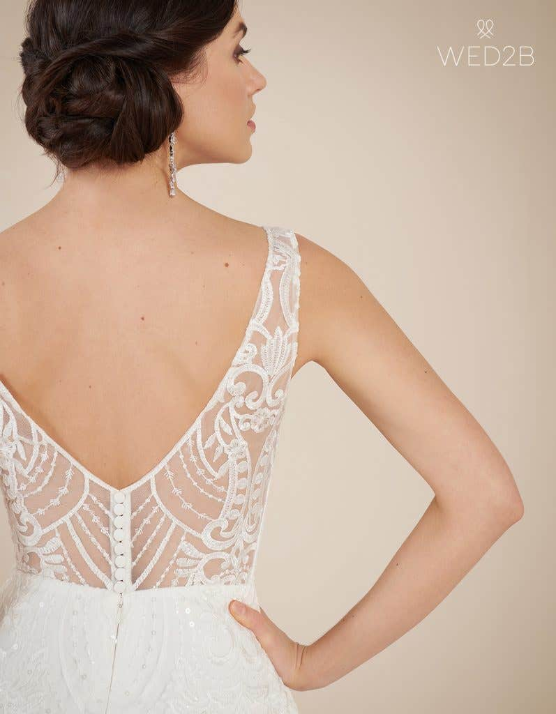 Close-up back view of statement wedding dress Bali by The Signature Collection