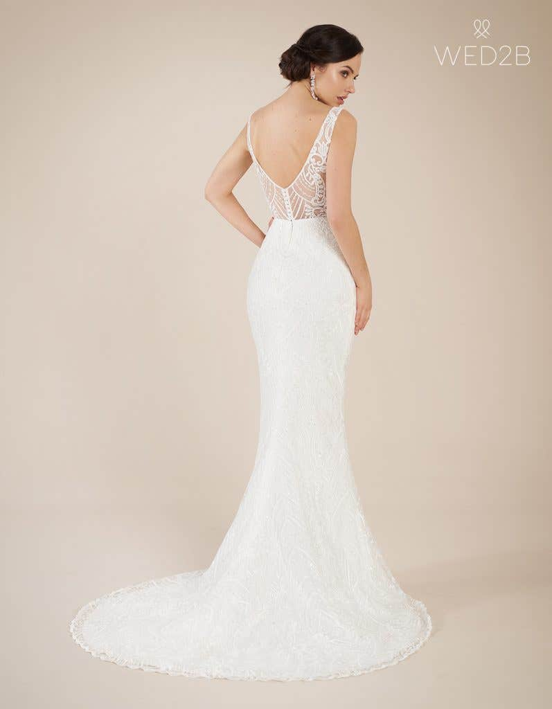 Back view of statement wedding dress Bali by The Signature Collection