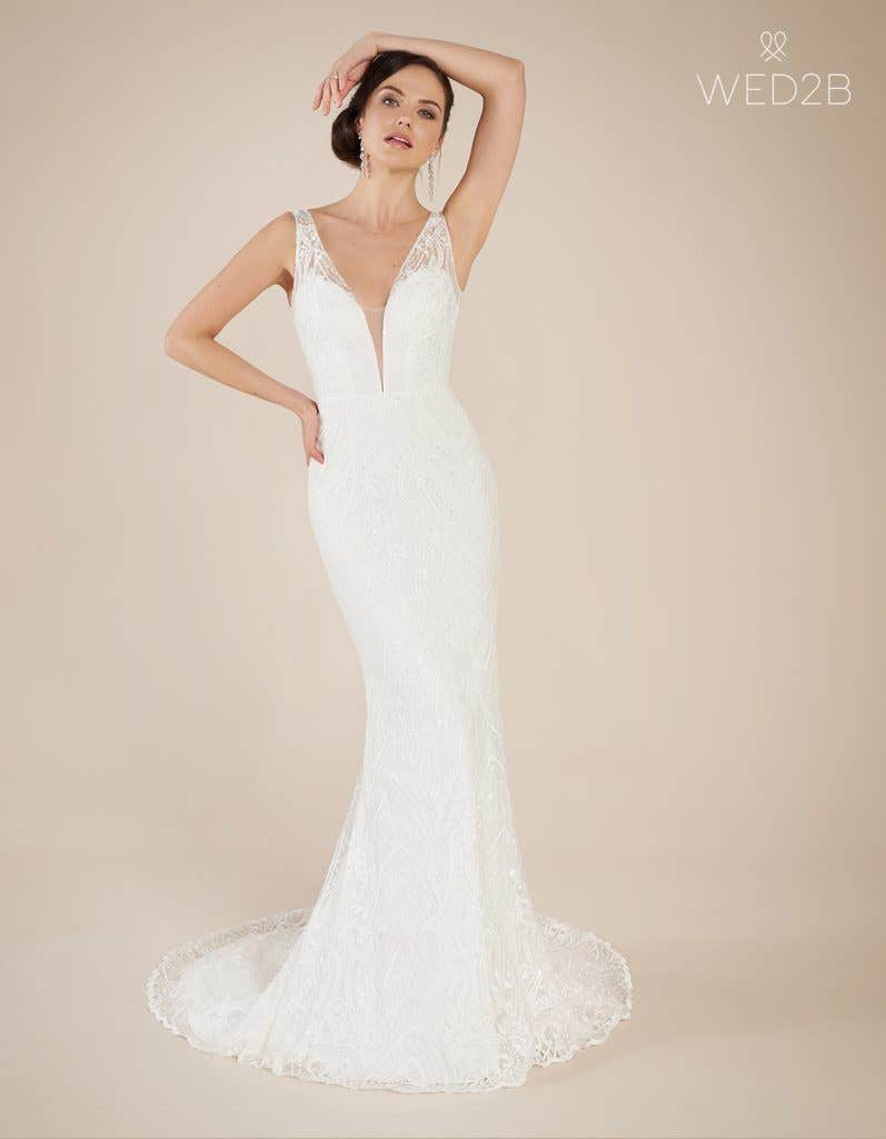 Front view of statement wedding dress Bali by The Signature Collection