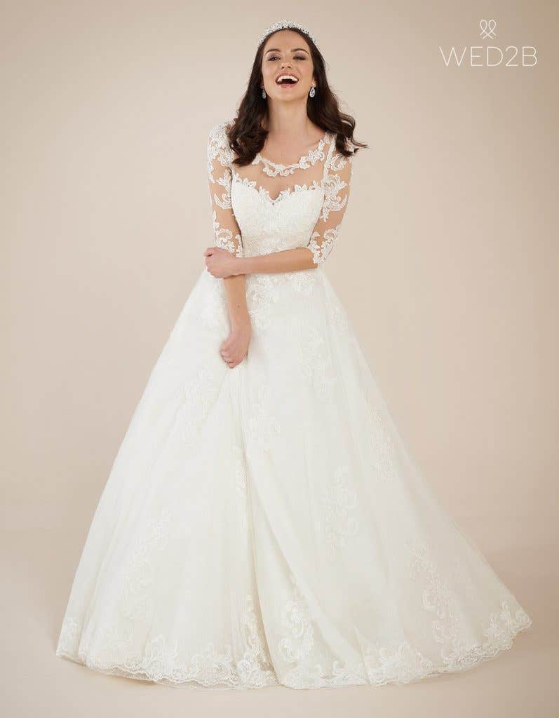 Front view of new wedding dress Breanna by Viva Bride