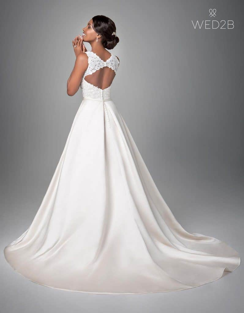 Back view of Destin, a wedding dress by Anna Sorrano