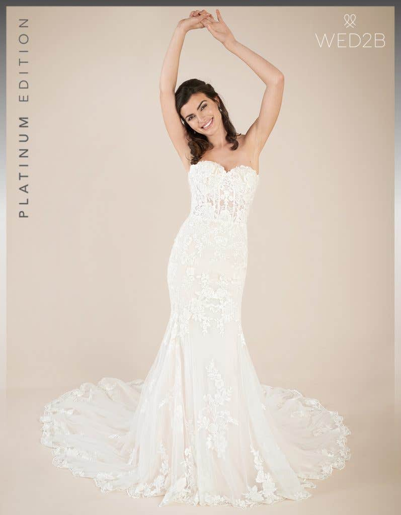 Front view of new wedding dress Elliot by Viva Bride
