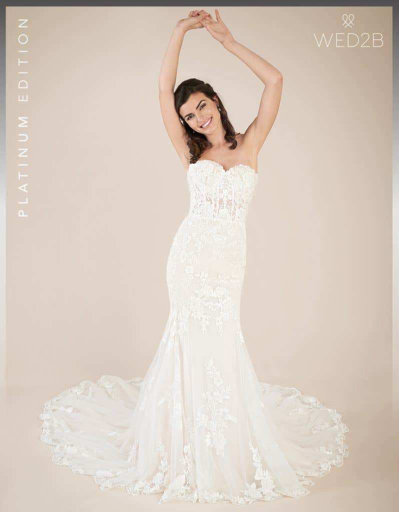Front view of Elliot by Viva Bride, a dress with key 2020 wedding dress trends