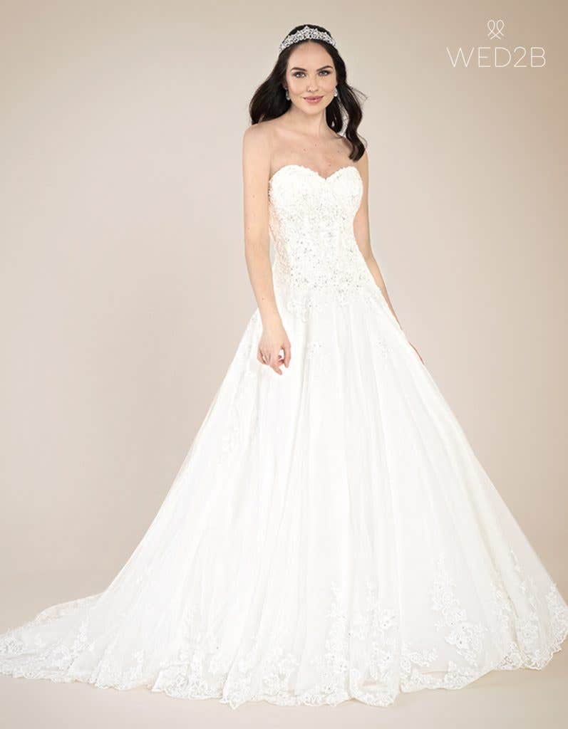 Front view of Emmy by Viva Bride, a dress with key 2020 wedding dress trends