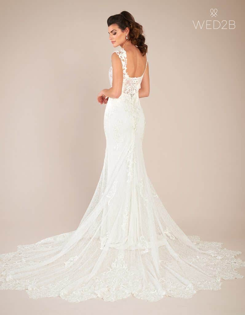 Back view of statement wedding dress Enzo by The Signature Collection
