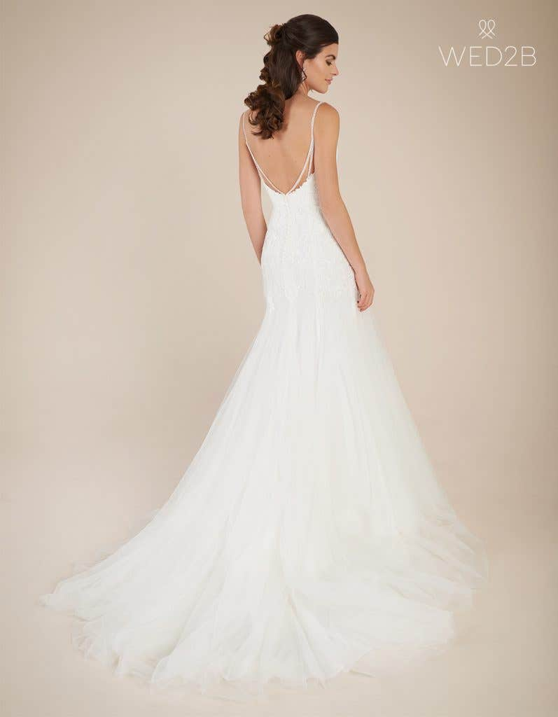 Back view of statement wedding dress Ginger by Viva Bride