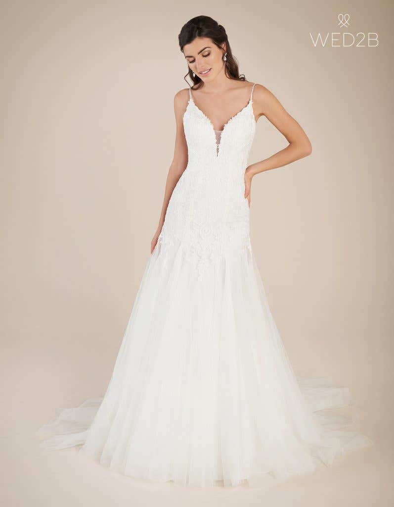 Front view of statement wedding dress Ginger by Viva Bride