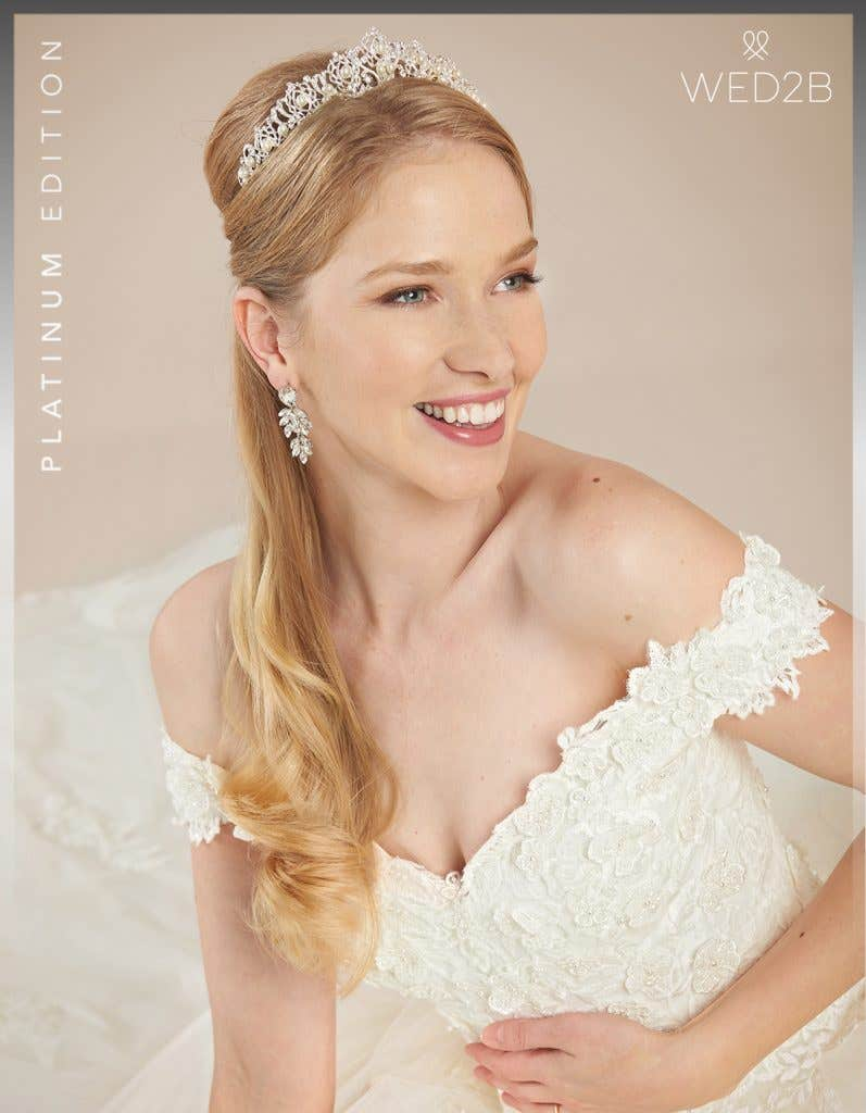 Close-up view of Grady by Anna Sorrano, a dress with key 2020 wedding dress trends