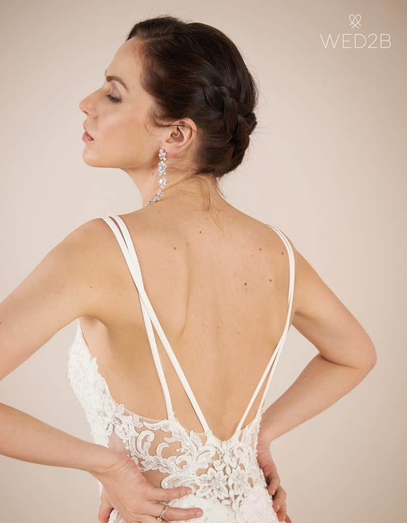 Close-up back view of statement wedding dress Hemsworth by The Signature Collection