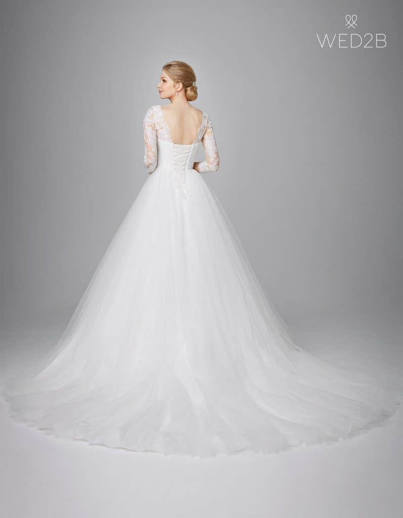 Back view of classic wedding dress Kate by Anna Sorrano