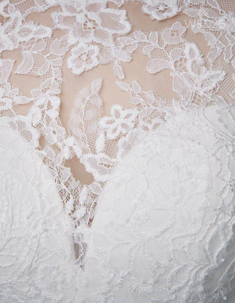 Detailed view of classic wedding dress Kate by Anna Sorrano