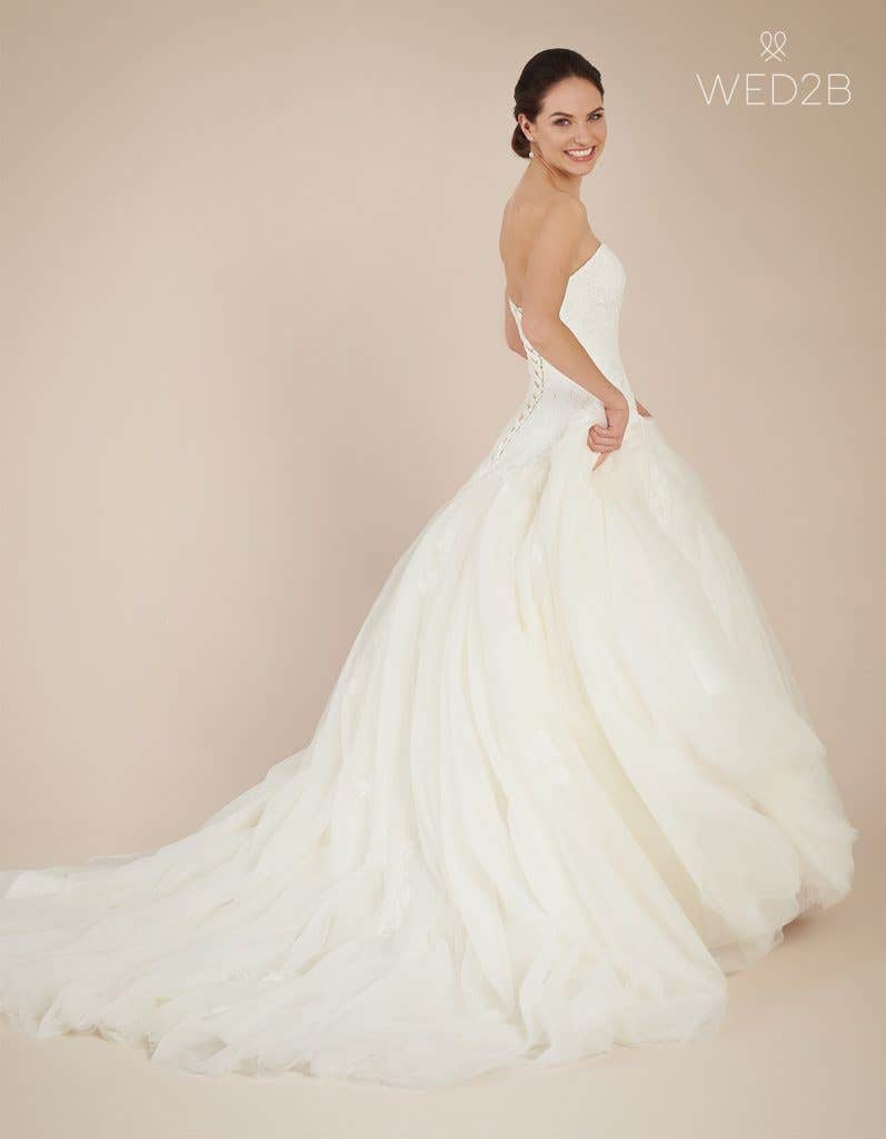 Back view of Larissa, a wedding dress by Anna Sorrano