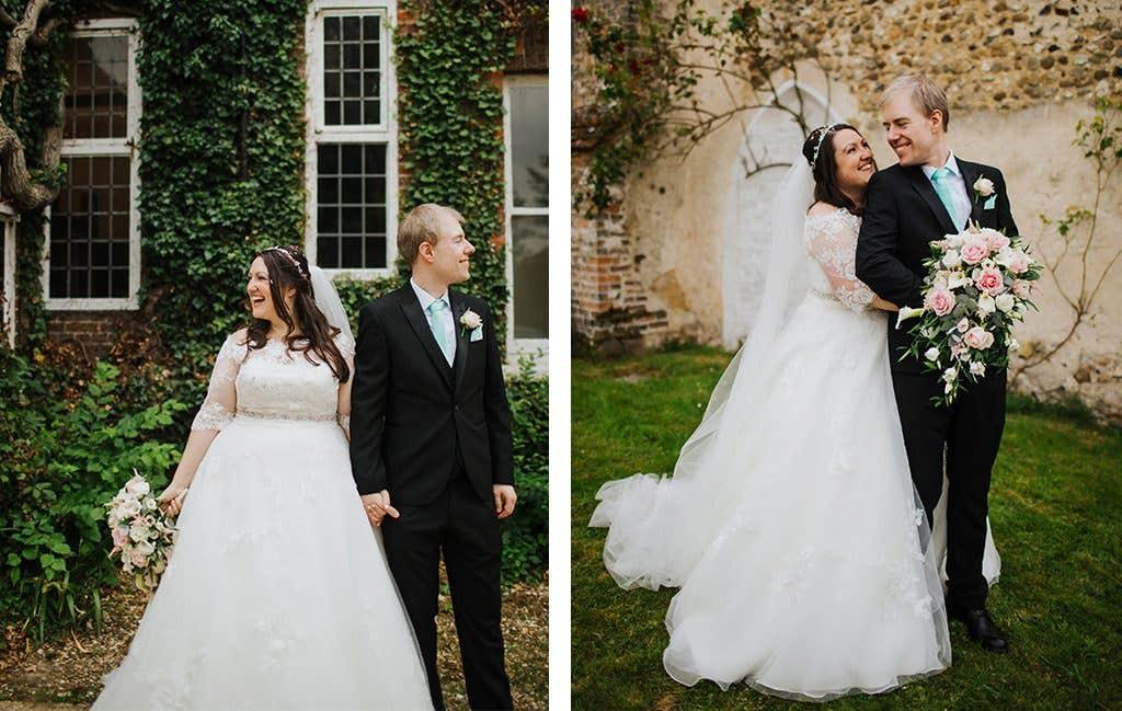 The newlyweds at their Hertfordshire wedding