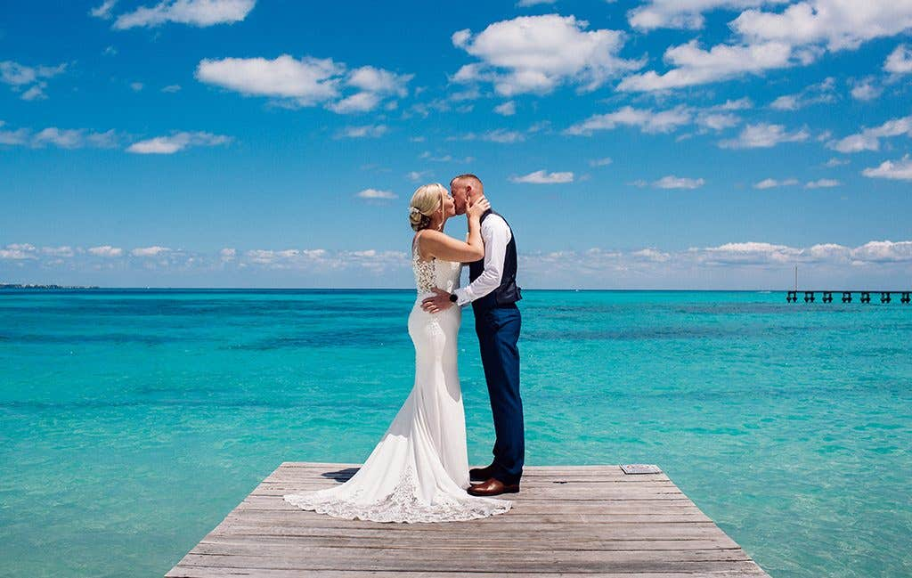 Gorgeous views for this couple getting married abroad