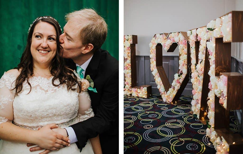 Love is in the air at this Hertfordshire wedding
