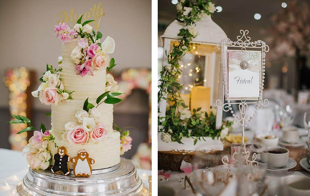 Gorgeous decorations at this Hertfordshire wedding