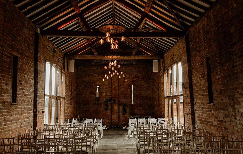 Where the wedding ceremony took place at this Cotswolds wedding