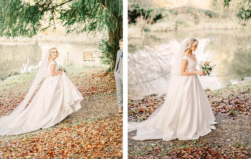 The stunning bride at her wedding reception in West Yorkshire