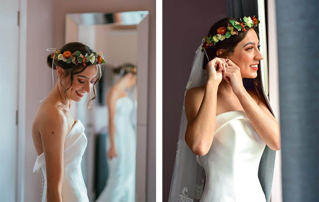 Emma in Amore by Anna Sorrano at her Norfolk wedding