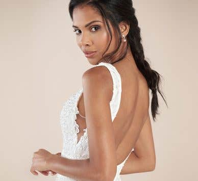 Be seduced by a sexy lace wedding dress