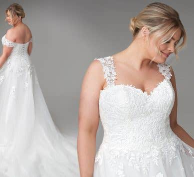 Revealed… The classic wedding dress of your dreams
