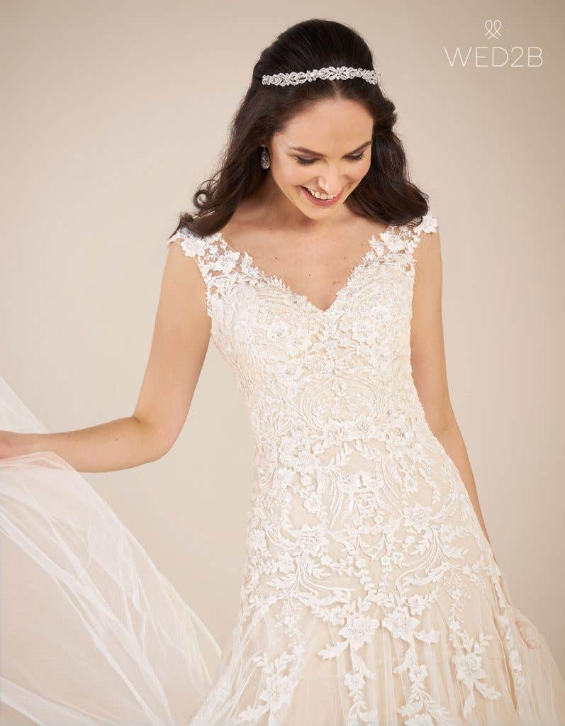 Close-up view of Astrid by Viva Bride, one of our exquisite wedding dresses