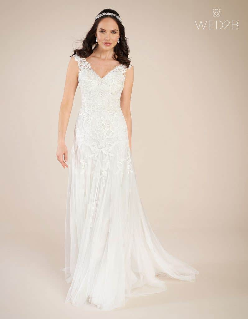 Front view of Astrid by Viva Bride, one of our exquisite wedding dresses
