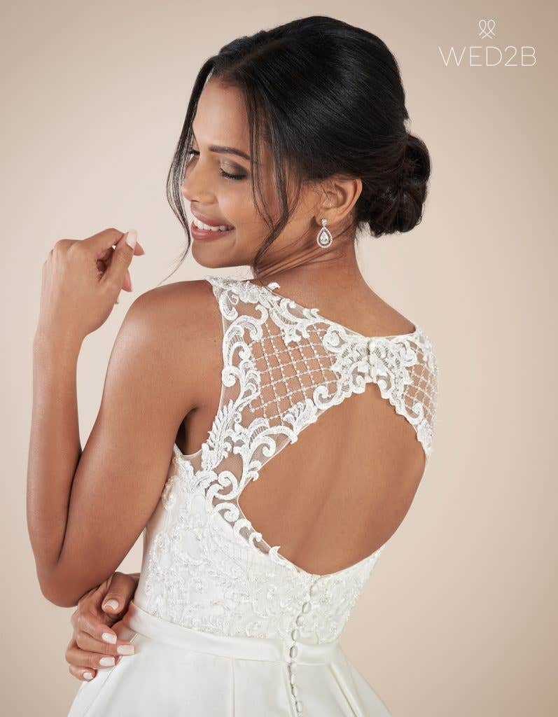 Back view of Beckingsale by Anna Sorrano, one of our exquisite wedding dresses