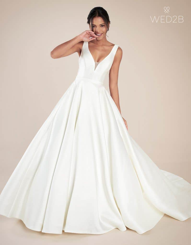 Front view of Beckingsale by Anna Sorrano, one of our exquisite wedding dresses
