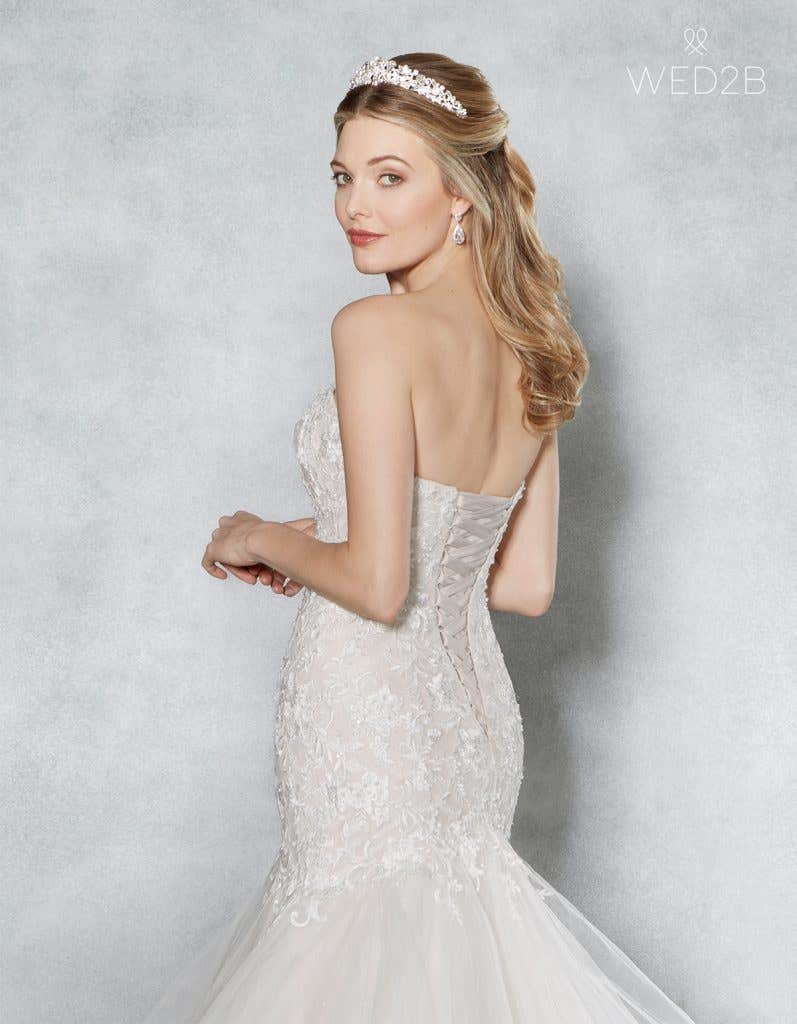 Close-up back view of Cherish by Viva Bride, one of our exquisite wedding dresses