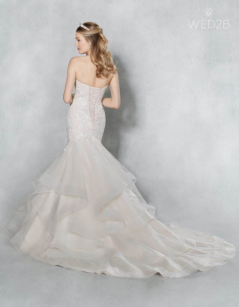Back view of Cherish by Viva Bride, one of our exquisite wedding dresses