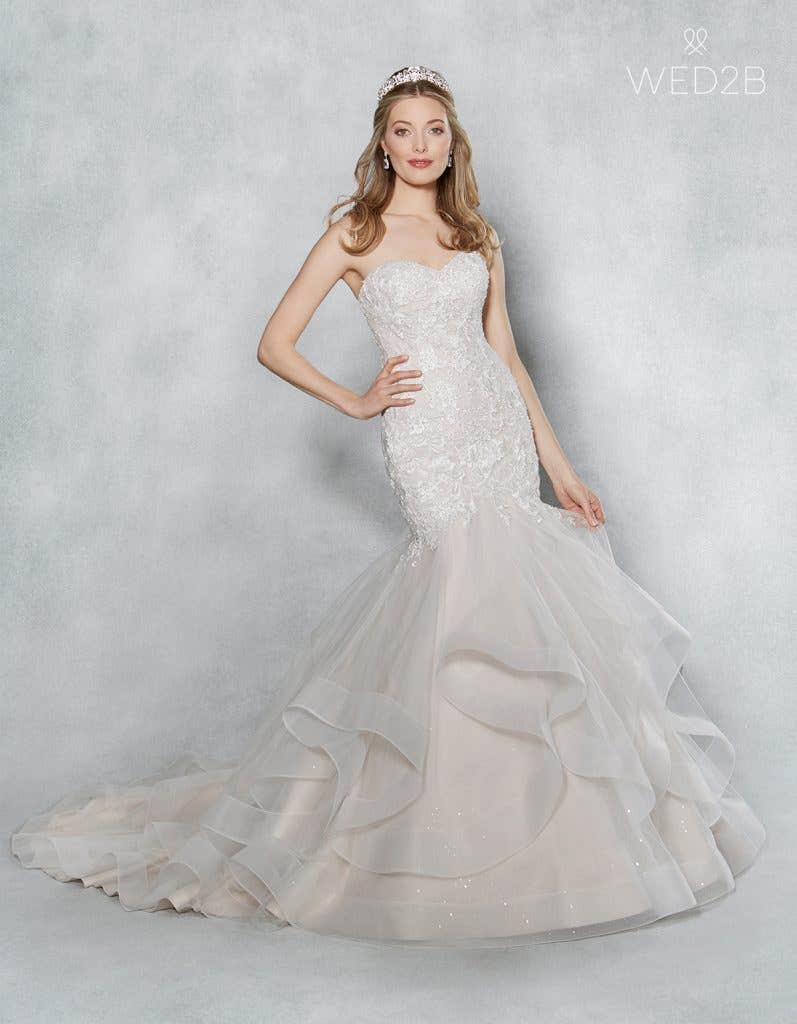 Front view of Cherish by Viva Bride, one of our exquisite wedding dresses
